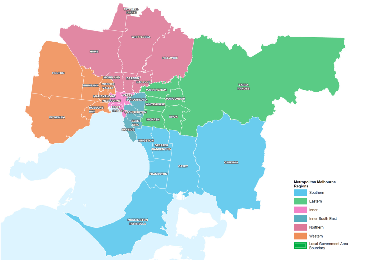 Overview of Metropolitan LUFPs. (Source: DELWP)